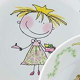 Kahla 32D200O76645C Kids Märchenprinzessin Porzellan Kindergeschirr-Set Mädchen Geschirr-Set bunt rund 3 teilig Set Tasse Suppenteller Teller - 5