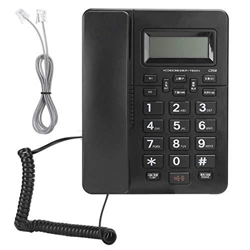 Lamyanran Telefono Fijo para la Decoración del Hotel en Casa Teléfono Fijo Oficina NETURAL NEGUROS LANDLINE STANDALONE STANDALONE DE One-Clave Telephone