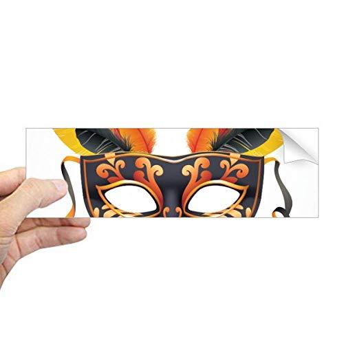 DIYthinker Veer Masker Gelukkig Carnaval Van Venetië Rechthoek Bumper Sticker Notebook Window Decal