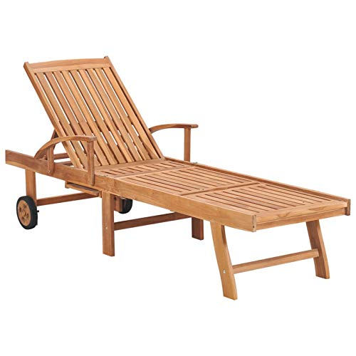 Tidyard Sun Lounger Solid Teak Wood for Garden, Patio, Pool Deck or any Outdoor Space