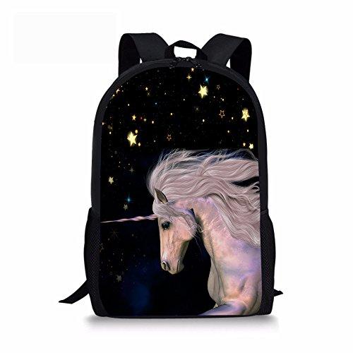 chaqlin Starry Sky Horse Kids Children School Backpack for Boys Girls Elementary Middle Studen Schoolbag Bookbag Large Rucksack