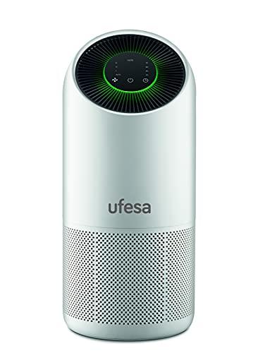 Ufesa PF6500 Purificador de Aire con Sistema de Filtrado de 4 Capas: Pre filtro + Carbón Activo + HEPA + UV Led, WIFI y Control por APP, Hasta 115 m², 3 Velocidades, Silencioso 30dB(A)