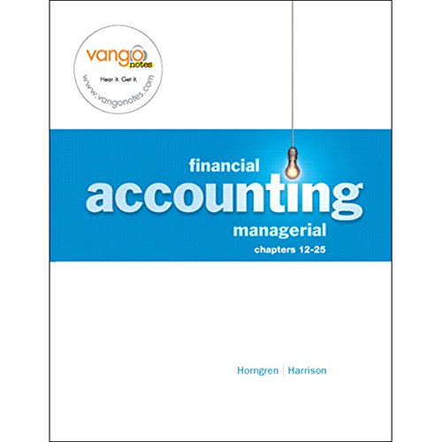 VangoNotes for Financial and Managerial Accounting, 1/e Volume 2 cover art