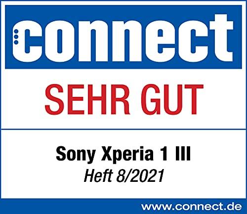 Sony Xperia 1 III 5G Smartphone (16,5 cm, 4K HDR OLED Display, Triple-Kamera System, Android 11 SIM free, 12 GB RAM, 256 GB Speicher, 24+6 Monate Herstellergarantie) [Amazon Exklusiv] Violett