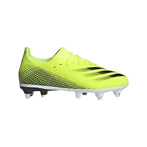 adidas X GHOSTED.3 SG J, Zapatillas de fútbol, Amasol/NEGBÁS/AZUREA, 31.5 EU