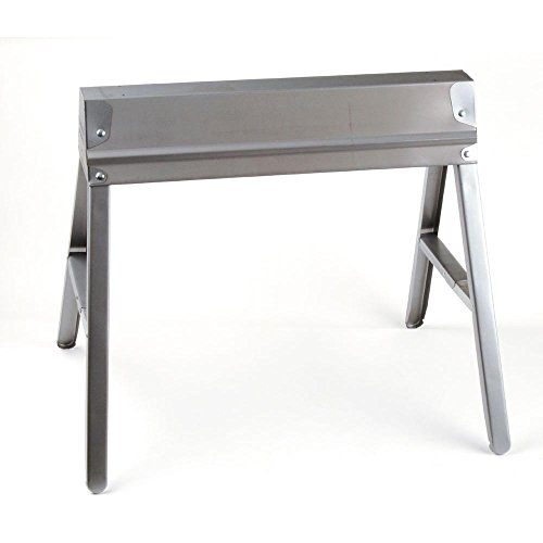 MD 27094 M-D Heavy Duty Folding Sawhorse, 1500 Lb, 28-1/2 in H X 31 in W, Steel, Galvanized, quot quot