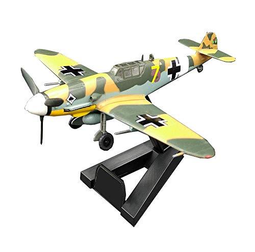KAIGE 1/72 Escala de Combate Modelo de plástico, Militar Segunda Guerra Mundial BF109G-2 JG Combate coleccionables for Adultos y Regalos, 5.4Inch X4.9Inch WKY