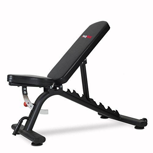 Bodymax Black BE235 Commercial Adjustable Flat, Incline, Decline Bench