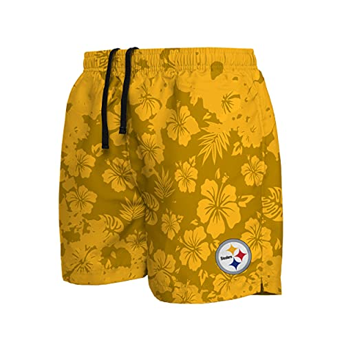 FOCO Pittsburgh Steelers NFL Mens Color Change-Up Swimming Trunks - XXL