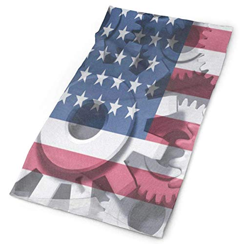 Stirnband Wirtschaft Symbol Amerikanische Flagge Outdoor Schal Maske Hals Gamasche Kopfwickel Schweißband Sport Kopfbedeckung