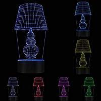 Buzdao 3Dナイトランプ目の錯覚デスクランプ形の照明の装飾モダンなデスクランプパーソナライズされた照明彼女へのUsbライトギフト