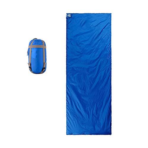Saco De Dormir De Camping, Saco De Dormir Impermeable para Adultos con Saco De Compresión, Utilizado para Viajes, Senderismo, Excursiones Y Actividades Al Aire Libre, 205x85cm (Color : Sky Blue 1)