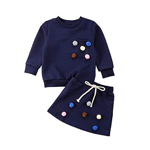 LILIZHAN 2 Stks Peuter Kinderen Baby Meisjes Herfst Winter Kleding Tops Trui +Rok Mode Meisjes Jurk Kinderen Baby Kleding Set