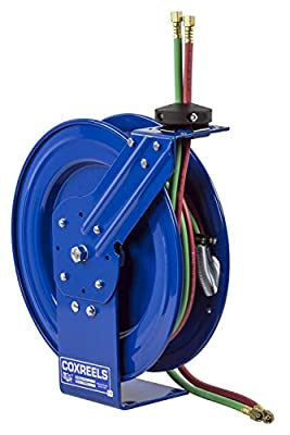 Coxreels Spring-Driven Welding Hose Reel with Hose