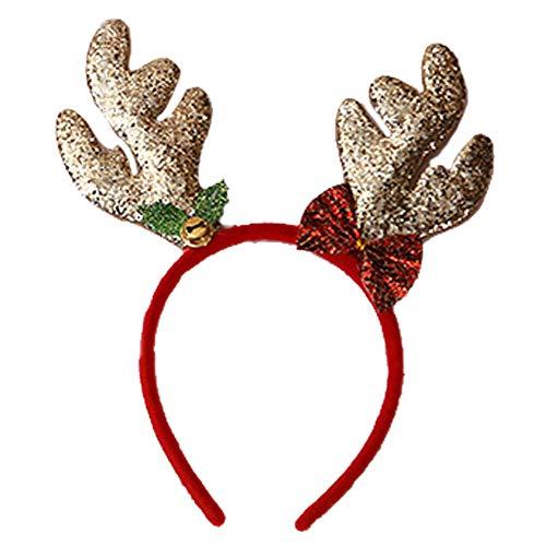 Renne Antler Bandeau Glitter Hoop Cheveux Décoration De Noël Cadeaux Cartoon Chapeaux Pour Homme Femme