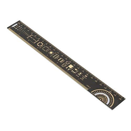 Regla de ingeniería, tablero de circuito impreso portátil, medidor de medición preciso para entusiastas electrónicos con rango de 10 pulgadas