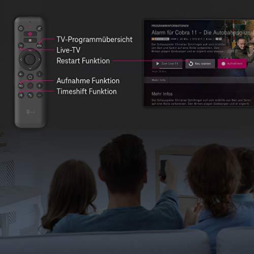 Telekom MagentaTV Stick | Fernsehen über WLAN | Mit MagentaTV über 50 TV-Sender in HD | zuhause oder unterwegs | Streaming-Dienste (Netflix, Prime Video, Disney+, TVNOW...) Android TV, 4K UHD