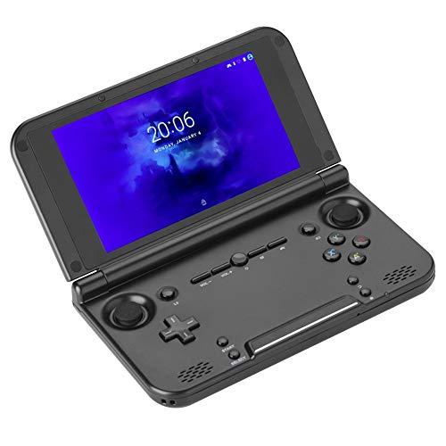 Console di gioco portatili pieghevoli GPD XD Plus con schermo IPS da 5,0 pollici, console per videogiochi portatile Android 7.0 Tablet PC Laptop Gameplayer 4 GB + 32 GB di memoria, per PSP NDS(Black)