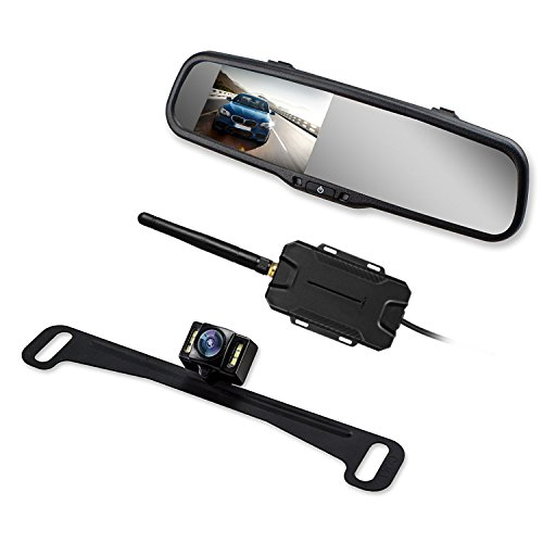 AUTO-VOX TW Wireless Backup Camera Kit, Rearview Mirror Monitor, Super...