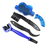 B bangcool Bike Chain Cleaner Set Professional Bicycle Clean Brush Chain Gear Cleaning