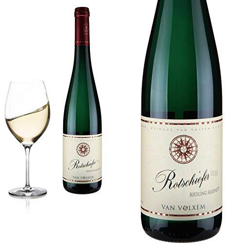 12er Karton 2019 Riesling Kabinett Rotschiefer feinherb von Weingut van Volxem - Weißwein