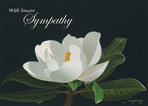 Pacifica Island Art Set of 12 Hawaiian Greeting Cards - Night Magnolia by Robert Wagstaff - Sympathy