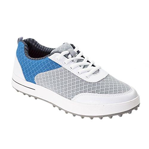 PGM Golfschuhe für Mädchen, atmungsaktiv, leicht, Sommer-Schuhe bieten Stil, Komfort und Leistung sowohl auf und außerhalb des Golfplatzes - Blau - 4.5
