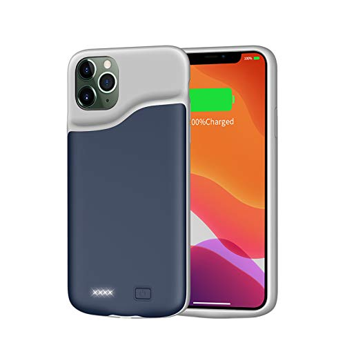 Battery Case for iPhone 11 Pro, 6000mAh JUBOTY Battery Charging Case Portable Rechargeable Extended Battery Pack Slim External Battery Protective Charger Case Compatible with iPhone 11 Pro(5.8 inch)