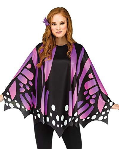 Horror-Shop Schmetterlings Flügel Poncho Karneval Kostümzubehör Lila