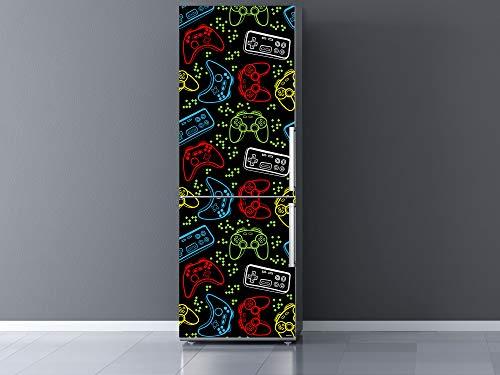 Oedim Vinilo para Frigorífico Mandos Juegos Colores 60x200cm | Adhesivo Resistente y Económico | Pegatina Adhesiva Decorativa de Diseño Elegante