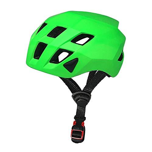 U/D Equipo Adulto de Ciclo del Casco de Seguridad Vial Bike Gear for Hombres y Mujeres Casco cómodo y Transpirable (Color : Verde)