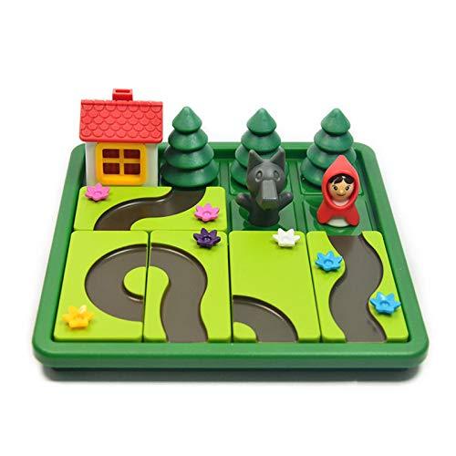 Yuxinkang Juegos De Mesa De Rompecabezas para Niños, Caperucita Roja Juego De Mesa De Pensamiento Lógico, Rompecabezas para Padres E Hijos Juguete Educativo Temprano,