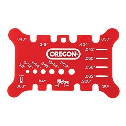 Oregon 556418 Chainsaw Bar and Chain Measuring Tool,Red