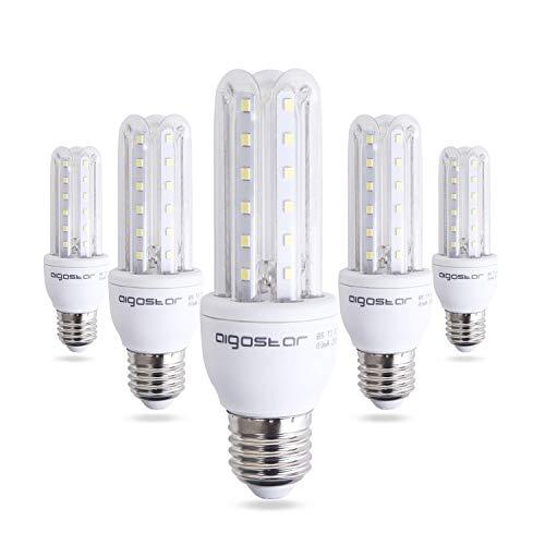 Lampadine LED E27. Mais LED 9 W(Equivalente a 60 W) Luce Bianca Fredda 6400K 810 Lumen Non Dimmerabile Pacco da 5