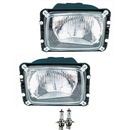 Scheinwerfer Set rechts & links H4 für T1 Bus 601 602 inkl. OSRAM Lampen mit Lampenträger