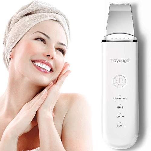 Hautreinigungsgerät, Toyuugo Gesichtsreinigung 4 in 1 Mitesserentferner Sauger Akne-Entferner Elektrische Ultraschall Skin Scrubber für Gesicht Reinigung Und Pflege (Weiß)