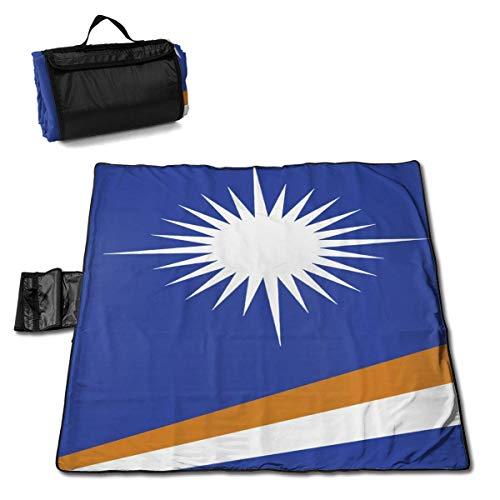 Suo Long Sac fourre-Tout Compact de Tapis de Pique-Nique de Couverture de Plage de Drapeau des îles Marshall avec la Sangle