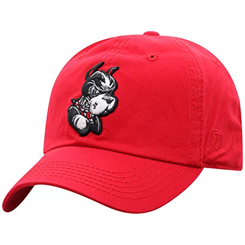 Top of the World Boston University Terriers Mens Relaxed Fit Adjustable Hat Team Color Primary Icon, Adjustable