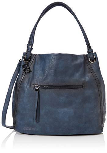 Bulaggi Lotus Shopper - Borse a zainetto Donna, Blu (Dunkel Blau), 17x34x36 cm (B x H T)