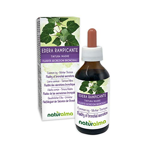 Common Ivy or English Ivy (Hedera Helix) Leaves Alcohol-Free Mother Tincture Naturalma | Liquid Extract Drops 100 ml | Food Supplement | Vegan