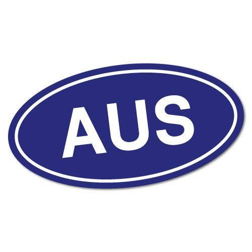 H421ld Aus Country Code - Pegatina ovalada de Australia australiana, Bogan Koala Vb Mate Cheers Kangaroo para ordenador portátil y coche