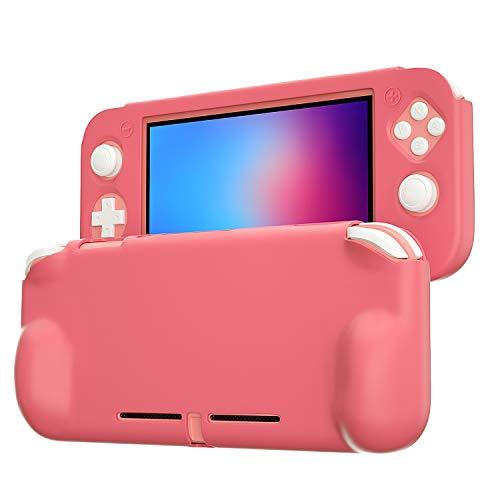 Grip Case für Nintendo Switch Lite, Silikonhülle für Nintendo Switch Lite, Koralle