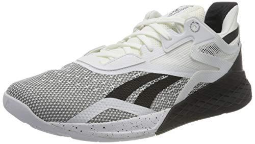 Reebok Nano X, Zapatillas de Deporte Hombre, Negro/Blanco/Blanco, 42 EU