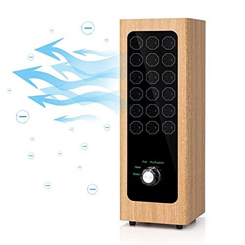 Generador de iones negativos, efecto sobre el sueño, asma, oxígeno y presión en la sangre, dolor de cabeza, eliminación de patógenos y partículas, adecuado para familias.