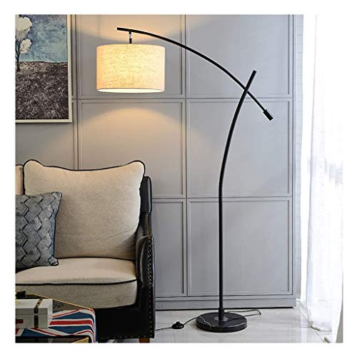 Lámpara de pie arqueada moderna Lámparas de pie Lámpara de pie Lámpara colgante de pie alta Luz de pie de diseño único - para oficina, dormitorio, sala de estar, lámpara de pie LED (Color: Negro)