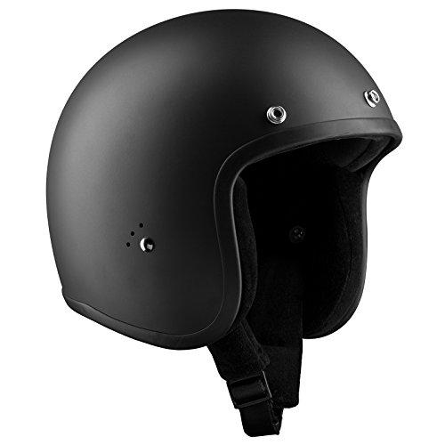 Bandit Helm Jet matt Jethelm kleine leichte Bauweise bequem Biker neu, Sports-Farbe:matt schwarz, Größe:XS(54cm)