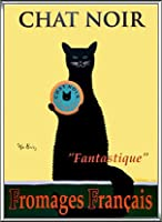 ポスター ケン ベイリー Chat Noir 額装品 アルミ製ハイグレードフレーム(シルバー)