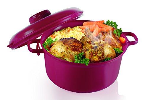 Handy Gourmet MICROMASTER PRSR COOKER, medium, Burgundy