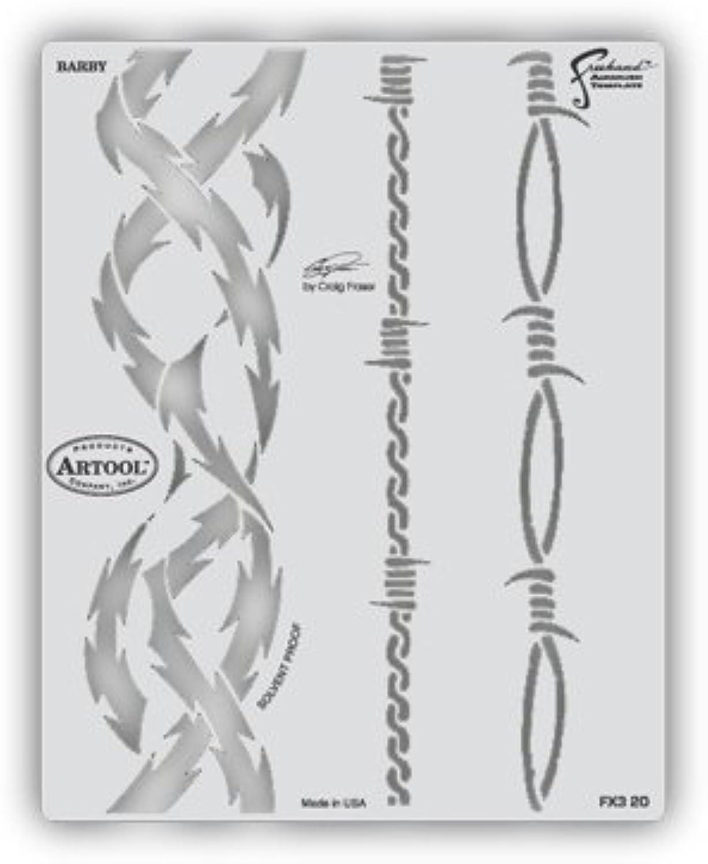 el precio más bajo Artool Freehand Airbrush Templates, Stencil Barby by by by Iwata-Medea  ahorra hasta un 70%