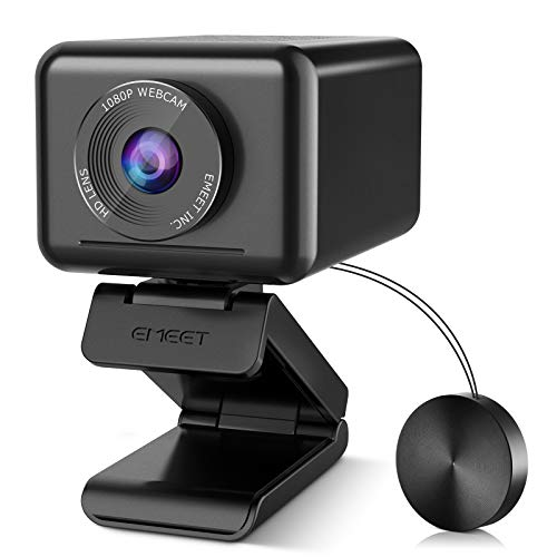 Conference Room Camera System, AIHuman-shape Tracking&Zoom Jupiter 1080P Webcam, Adjustable View Web Camera w/Software, All-in-One 1 Speaker&4 Mics Enhanced Computer Camera, Plug&Play w/Privacy Cover